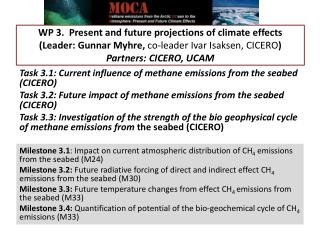 Task 3.1: Current influence of methane emissions from the seabed (CICERO)
