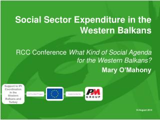 Social Sector Expenditure in  the  Western Balkans