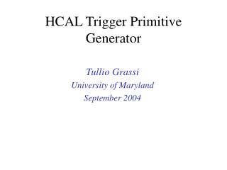 HCAL Trigger Primitive Generator