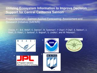 Utilizing Ecosystem Information to Improve Decision Support for Central California Salmon