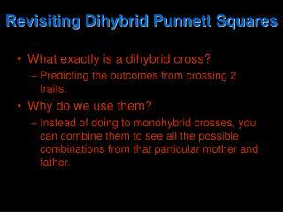 Revisiting Dihybrid Punnett Squares