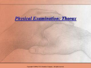 Physical Examination: Thorax