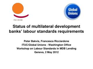 Status of multilateral development banks' labour standards requirements