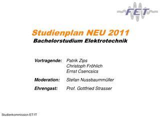 Studienplan NEU 2011 Bachelorstudium Elektrotechnik