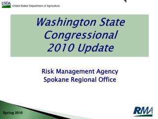 Washington State Congressional 2010 Update