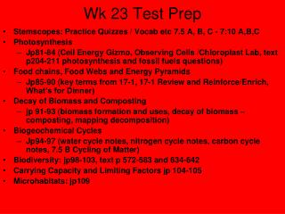 Wk 23 Test Prep