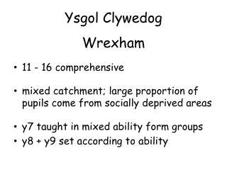 Ysgol Clywedog Wrexham