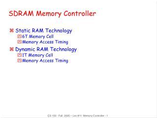 SDRAM Memory Controller