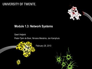 Module 1.3: Network Systems