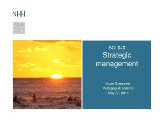 SOL040  Strategic management
