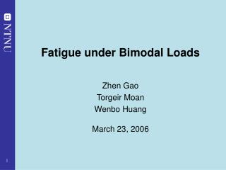 Fatigue under Bimodal Loads