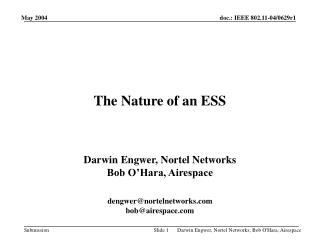 The Nature of an ESS