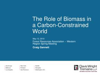 The Role of Biomass in a Carbon-Constrained World
