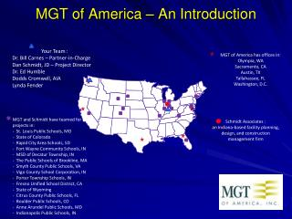MGT of America – An Introduction