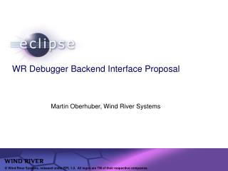 WR Debugger Backend Interface Proposal