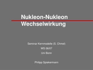 Nukleon-Nukleon Wechselwirkung