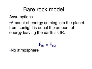 Bare rock model
