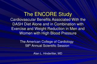 The American College of Cardiology  58 th  Annual Scientific Session