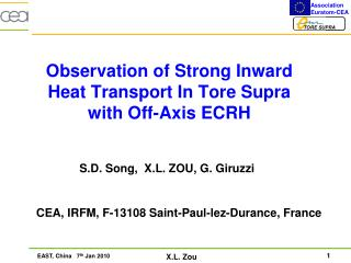 Observation of Strong Inward Heat Transport In Tore Supra with Off-Axis ECRH