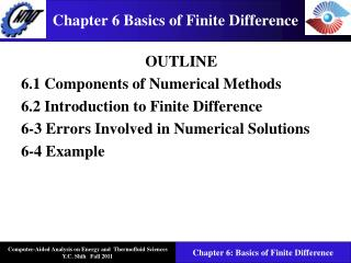 Chapter 6 Basics of Finite Difference