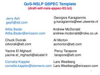 QoS-NSLP QSPEC Template (draft-ietf-nsis-qspec-03.txt)