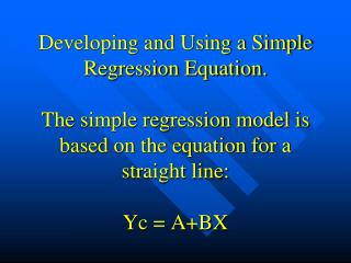 Graphical depiction of a regression line