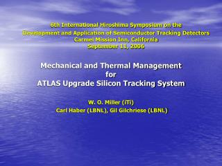 Mechanical and Thermal Management  for  ATLAS Upgrade Silicon Tracking System