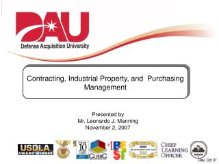 Contracting, Industrial Property, and  Purchasing Management