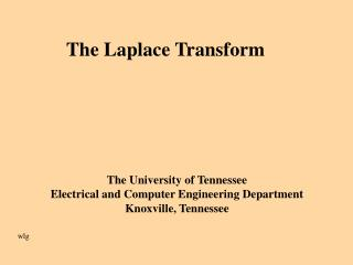 The Laplace Transform