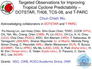Targeted Observations for Improving Tropical Cyclone Predictability –