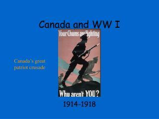Canada and WW I