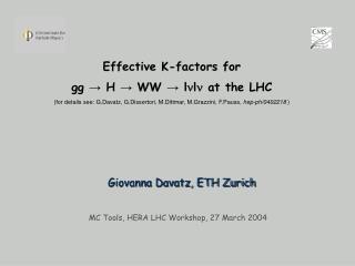 Giovanna Davatz, ETH Zurich