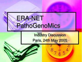 ERA-NET PathoGenoMics