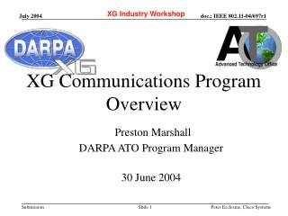 XG Communications Program  Overview