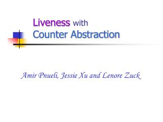 Liveness with Counter Abstraction