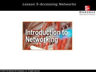 Lesson 5-Accessing Networks