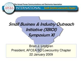 Small Business & Industry Outreach Initiative (SBIOI) Symposium XI
