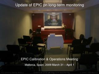 Update of EPIC pn long-term monitoring