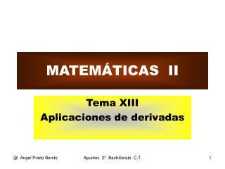 MATEM�TICAS  II