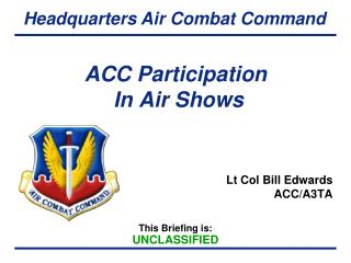 ACC Participation  In Air Shows