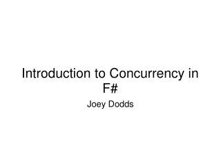 Introduction to Concurrency in F#