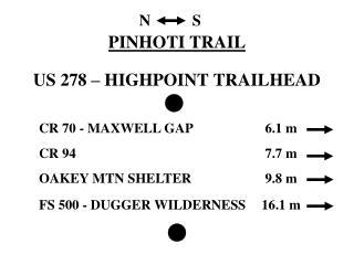 PINHOTI TRAIL US 278 – HIGHPOINT TRAILHEAD