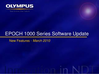 EPOCH 1000 Series Software Update
