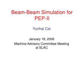 Beam-Beam Simulation for PEP-II