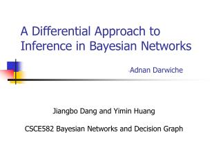 A Differential Approach to Inference in Bayesian Networks