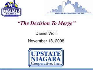 """The Decision To Merge"""