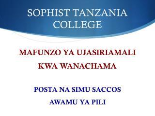 SOPHIST TANZANIA COLLEGE