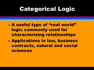 Categorical Logic