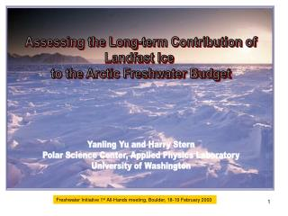 Assessing the Long-term Contribution of Landfast Ice  to the Arctic Freshwater Budget