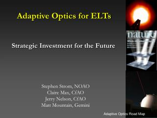 Adaptive Optics for ELTs